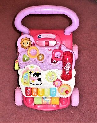 Vtech First Steps Baby Walker ~ In Pink ~ Lights And Sounds ~ Includes Phone