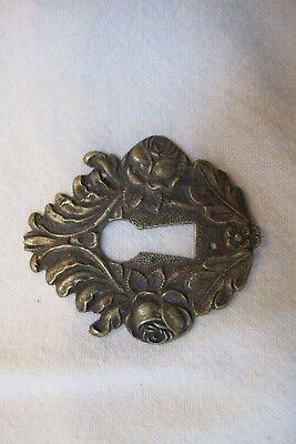 Real Antique French Key Hole Cover Escutcheon Brass Hardware