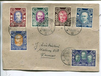 Lithuania de jure 6 values on cover 22.9.1922
