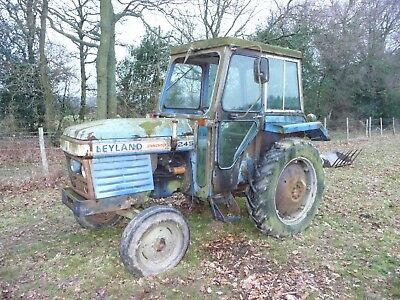 1979 Leyland 245 Synchro Tractor, for spares or restoration. Very low hours.