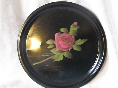 Antique Black Hand Painted Bar Serving Tray Advertisement early 1900's