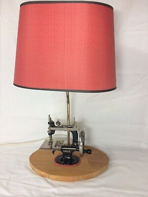 Vintage Singer Sewhandy No 20 child's sewing machine made into a lamp