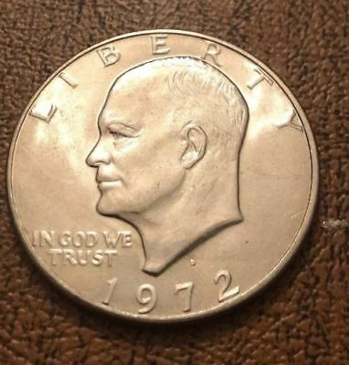 1972 President Eisenhower Apollo 11 Moon Landing ($1) Dollar USA Coin