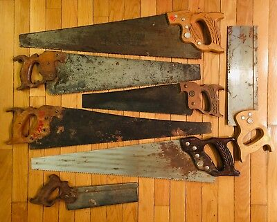 VINTAGE HAND SAW LOT, 7 Saws, Some Old, Some Recent