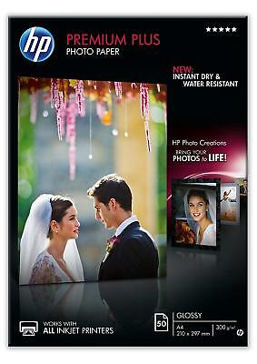 HP Photo Paper Glossy Inkjet Instant Dry Water Resistant Smudge Free 50 Sheets
