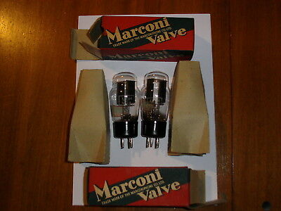 A Pair Of Marconi U14 Rectifier Valves/tubes Tested In Boxes Same Codes !
