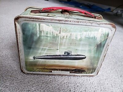 Vintage 1960 USS Seawolf Submarine lunch box  USS Nautilus and more!