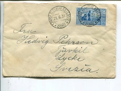 Italy cover to Sweden 1931, upper back flap missing