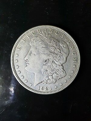 1921 D United States Morgan Silver Dollar Great Condition