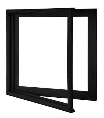 Vinyl Record Frame - Solid Wood with Clear Acrylic to Display your album - Black