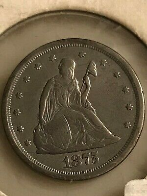 1875-S 20 CENT PIECE (2nd of 3  20 Cent Pieces listed)  Free Shipping