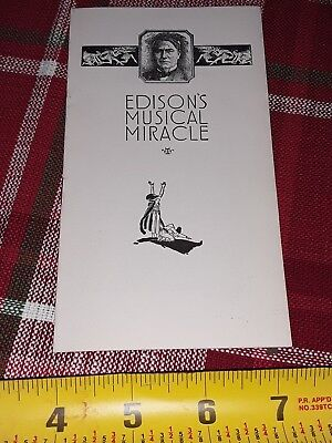 1920's Thomas Edison's Musical Miracle Phonograph Booklet 16 pages