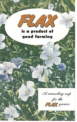 1950's FLAX GROWING AGRICULTURE BOOKLET