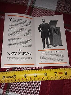 1920's Boston Opera Thomas Chalmers The New Edison Phonograph Brochure