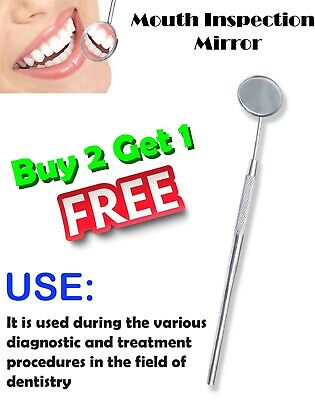 Professional DENTAL Mouth MIRROR With HANDLE Dentist Dentistry Instrument