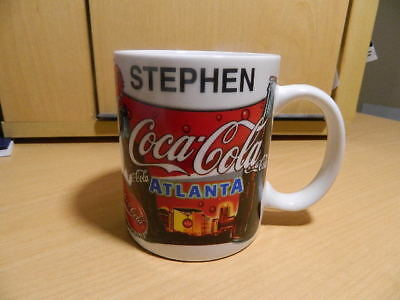Collectible Coca Cola Atlanta Personalized (Stephen) Coffee Cup