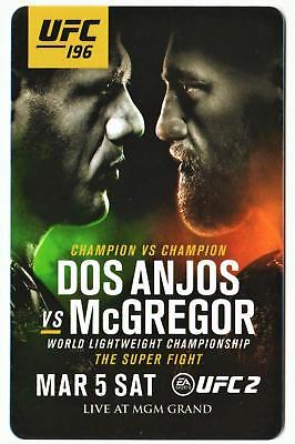 MGM GRAND casino UFC 196**Conner Mc Gregor vs Dos Anjos* Las Vegas key card!