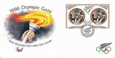 1996 - New Zealand -  Olympic Gold - First day cover