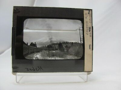 Mt. Shasta (Likely the Southern Pacific) B&W Magic Lantern Slide -Qty 1