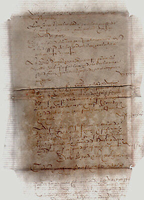 REAL XV 15th Medieval Manuscript Leaf  Fragment French