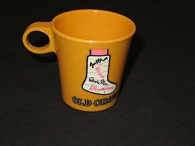 Vintage OLD CROW Whiskey Bar Man Cave Cup Distillery (P66)