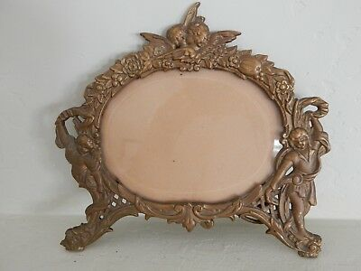 Antique Cast Iron Tabletop Picture Frame