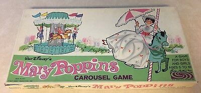Mary Poppins Vintage Carousel Game Parker Brothers 1964 Board game DISNEY