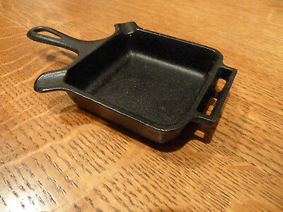 Vintage Griswold Cast Iron Square Skillet Ashtray, P/n 770