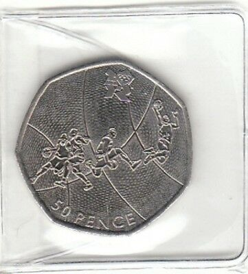Basketball 50 P 2011 OLYMPIC FIFTY PENCE COINS Mint Condition Coin Hunt.