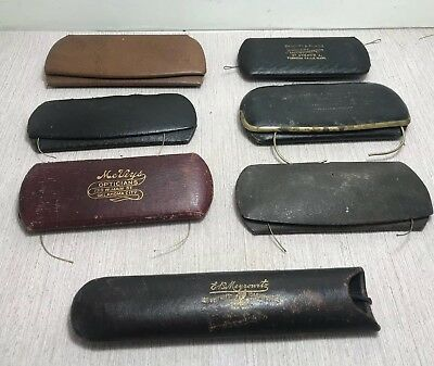 7 Pairs Antique Vtg Gold Filled Eyeglasses Glasses Spectacles w cases