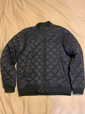 Barbour Men's Quilted Nylon Bomber Navy