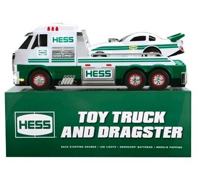 Hess Toy Truck and Dragster Box Set 2016 Light Up Sound Battery Operated NIB
