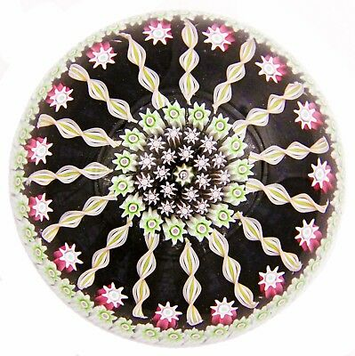 Vintage Art Glass Paperweight Perthshire Millefiori 15 Spoke Pattern PP62 P Cane