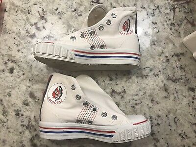 Vintage Lacrosse Indian Arch Canvas Shoes Sneakers Size 11.5 Prop 60's YOUTH