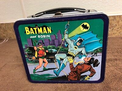 Batman And Robin Lunchbox 1966 Htf Canadian Version