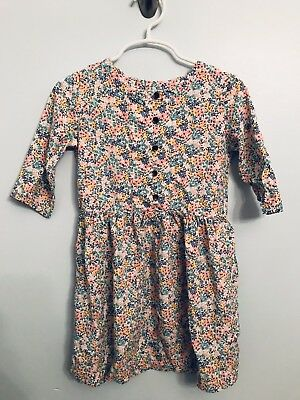 Carters Girls Floral Long Sleeve Multi-color Dress Size 4T