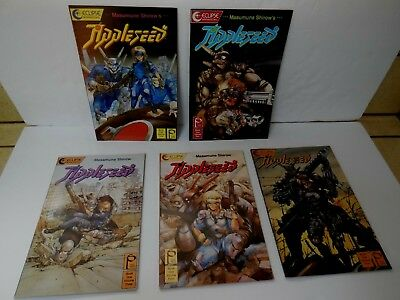 Masamune Shirow's APPLESEED 1988  Book 1, Volumes 1 thru 5  Manga Complete Set