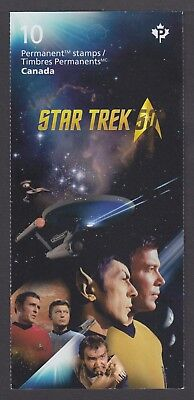 CANADA BOOKLET BK648 10 x 90c STAR TREK - 50th ANNIVERSARY OF TV SERIES