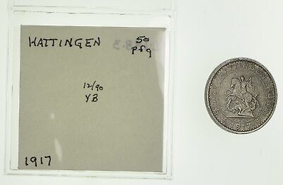 GERMANY States: 1917 Hattingen 50 Pfennig *357