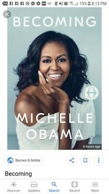 Becoming by Michelle Obama NEW 2018 Hardcover Biogra