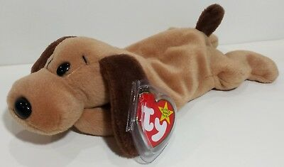"""TY Beanie Babies """"BONES"""" the Cute Puppy Dog - MWMTs! RETIRED! PERFECT GIFT! NEW!"""