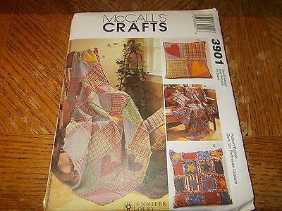 McCalls CRAFTS Pattern 3901 ~ 2 Size Rag Throws & Rag Pillows ~ Jennifer Lokey