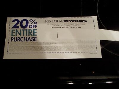 Bed Bath and Beyond 20% off entire purchase coupon expires 4/1/19