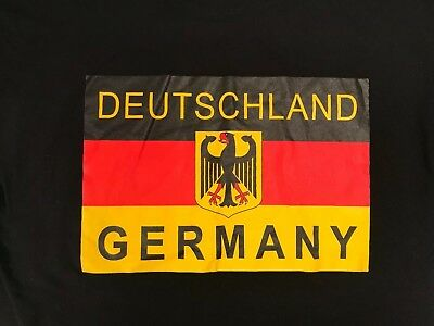 B&C Collection T-Shirt/Deutschland Germany/Large Size/German Flag/Coat of Arm