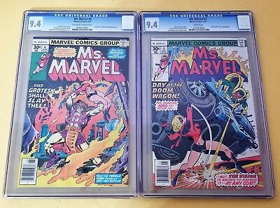 Ms. Marvel #5 & #6 CGC 9.4