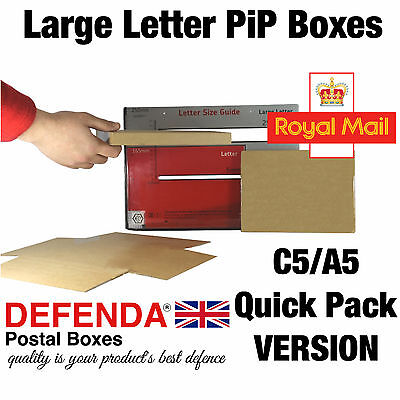 C5 A5 BOXES Royal Mail Postage PiP POSTAL LARGE LETTER Size QUALITY CARDBOARD