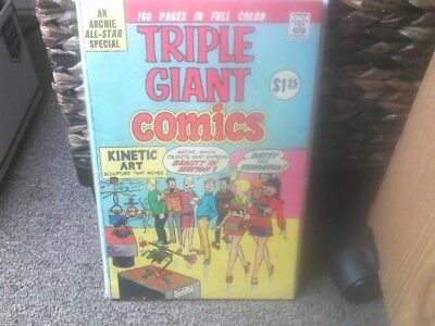 """ARCHIE TRIPLE GIANT COMIC BOOK """"0"""" 1975 160pgs  5 comics in one 1    G/VG"""