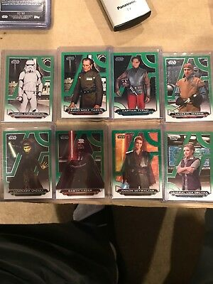 STAR WARS TOPPS Galactic Files Green Parallel Lot /199 Anakin Vader Leia