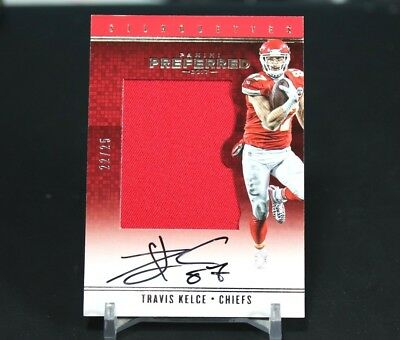 Travis Kelce 2017 Preferred Silhouettes #'d 22/25 Jersey Patch Autograph AUTO