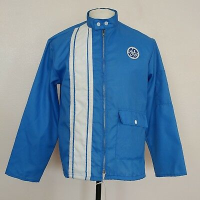 Vintage General Electric GE Small Jacket Blue Nylon Made In USA By Horizon